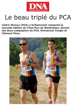 Le beau triplé du PCA - Pays de Colmar Athlétisme club d`athlétisme