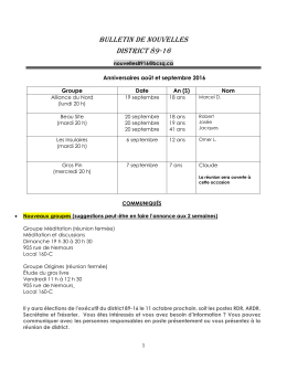 bulletin de nouvelles district 89-16