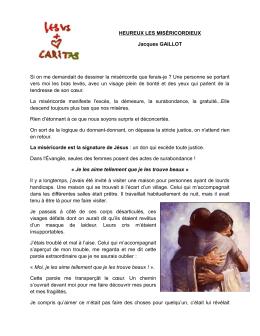 Jacques GAILLOT, Heureux les miséricordieux