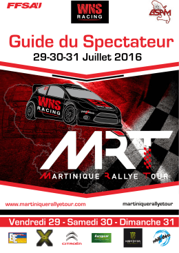 MAGAZINE-MRT-2016 - Martinique Rallye Tour