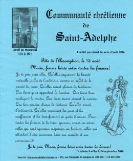 Août 2016 - Municipalité de Saint