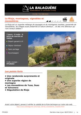 La Rioja, montagnes, vignobles et monastères Les