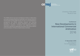 New Developments in International Commercial - Publications