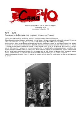 Chinaten août 2016 programme - Mairie du 10e
