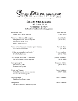 Programme de concer - Midsummer Music Dream / Song d`été en