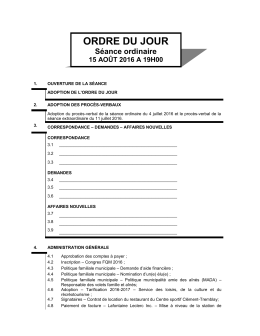 ORDRE DU JOUR - Ville de Chandler