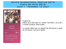 Nate`s International Meeting 2016 Festa dei Nate 2016 Jour 1