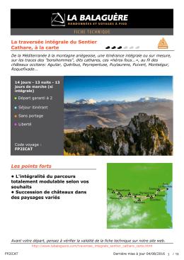 La traversée intégrale du Sentier Cathare, à la carte