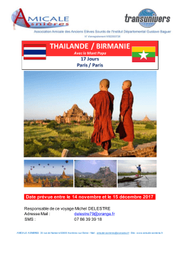 thailande / birmanie - Amicale