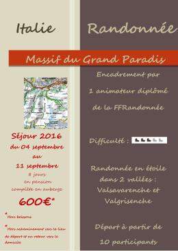 Massif du Grand Paradis - Fédération Française de la Randonnée