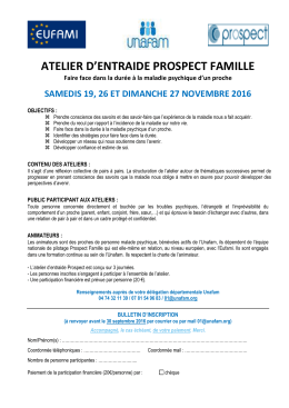 Bulletin d`inscriptio Prospect