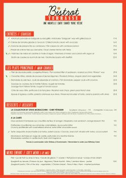menu enfant / kid`s menu (-12 ans) les plats principaux / main