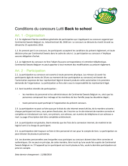 Conditions du concours Lutti Back to school