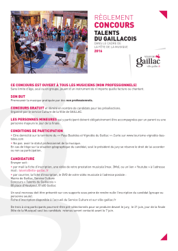 concours - Gaillac