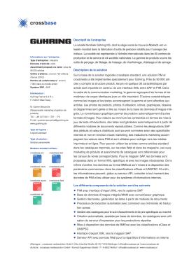 Descriptif de l`entreprise La société familiale Gühring KG, dont le