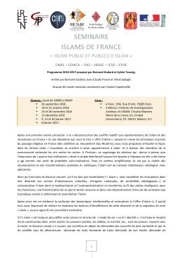 Islams de France - Islam public et publics d`Islam.