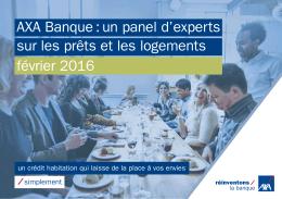 AXA Banque : un panel d`experts sur les prêts et les