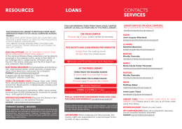 resources loans contacts services