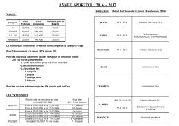 Horaires et tarifs - Cie d`arc de Saint-Maur