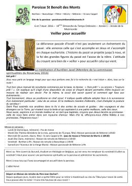 Microsoft Word - 19TOC  - Paroisse Saint Benoit des Monts