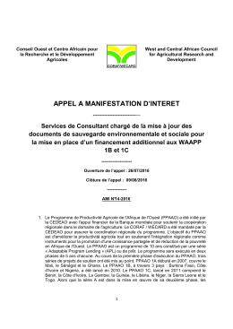 Télécharger AMI 14-2016 TDR Safeguards WAAPP