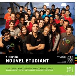nouvel étudiant - Polytechnique Montréal