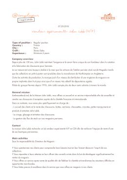 - Hermès employeur