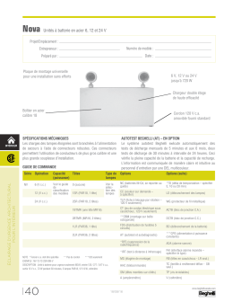 Page du catalogue