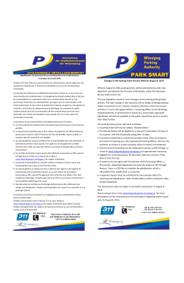 Changes to the Parking Ticket Process Effective August 8, 2016