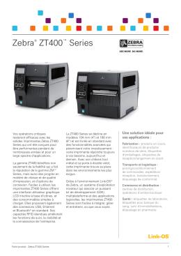 Fiche produit ZT400 Series