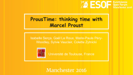 ProusTime: thinking time with Marcel Proust