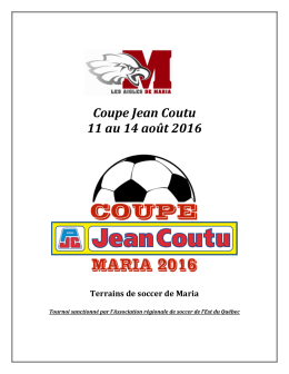 Invitation à la coupe BDC Jean Coutu 2016