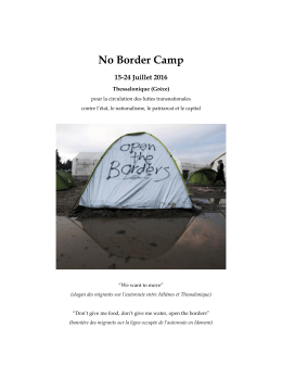 No Border Camp 2016