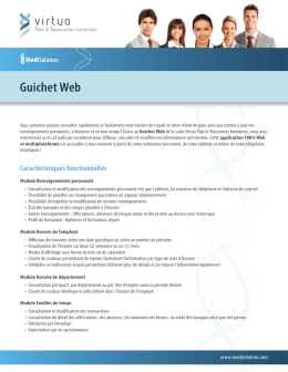 Guichet Web - MediSolution