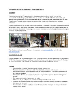 toestand engage: responsable logistique (m/v/x) context description