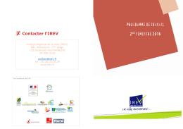 Plaquette - programme d`action 2nd semestre (IREV, 2016)