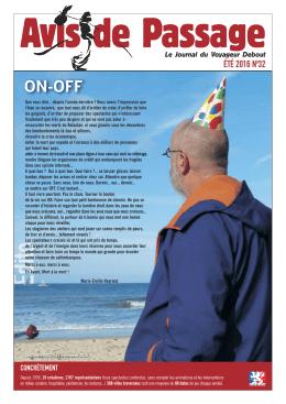 Avis de Passage N°31 / Version PDF - le voyageur debout