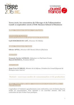 programme en pdf - Les rencontres de l`élevage et de l`alimentation