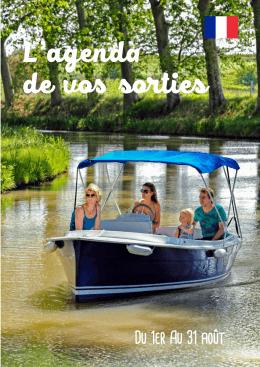 L`agenda de vos sorties du Canal du Midi au Saint Chinian