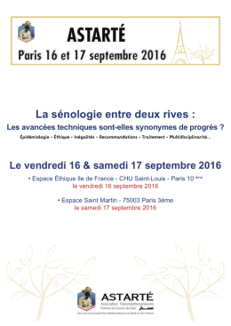 Programme Journée Astarté 2016