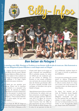 billy-infos n°33 du 12 août 2016 - Ville de Billy