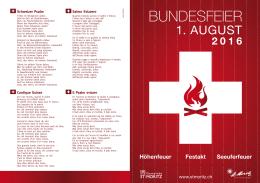 1. August Programm 2016