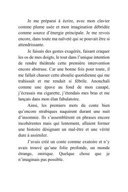 lire un extrait - La Librairie de la Toile