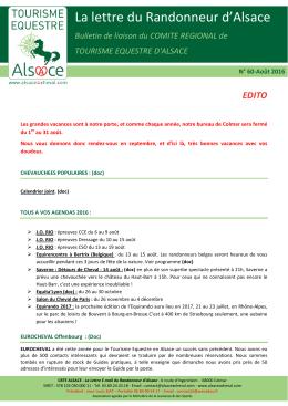 Le Randonneur d`Alsace - aout 2016
