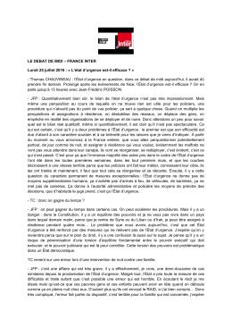 LE DEBAT DE MIDI verbatim - Jean