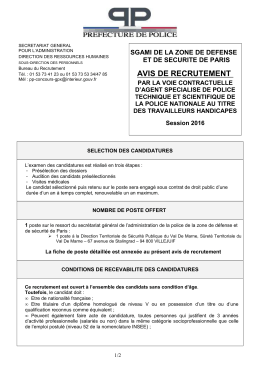 avis recrutement aspts th 2016 poste dtsp 94