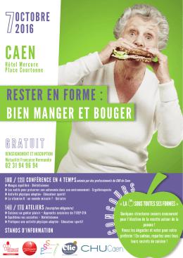 affiche bien manger et bouger Caen 10 2016