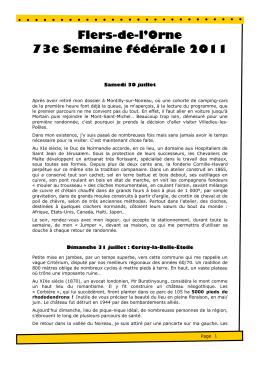 Flers-de-l`Orne 73e Semaine fédérale 2011