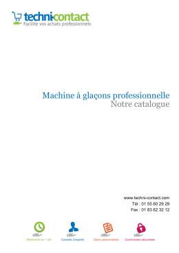 Machine à glaçons professionnelle Notre catalogue - Techni