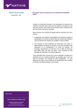 Flash Economie - Research by Natixis